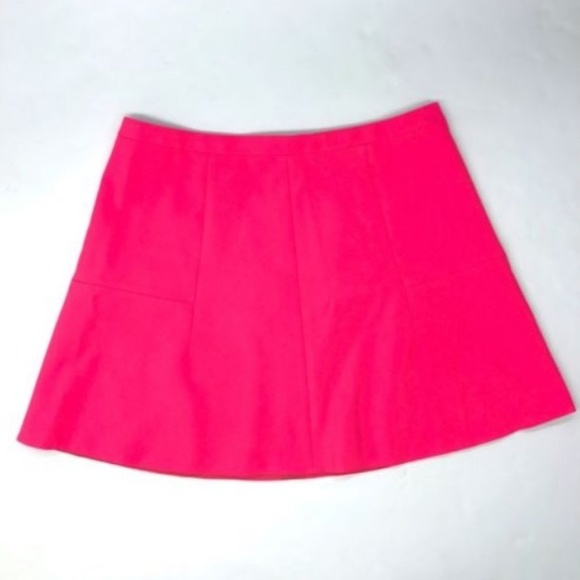 J. Crew Dresses & Skirts - J.CREW Hot Neon Pink Lined A-Line Flared Skirt